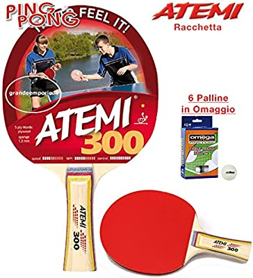 Atemi 300 raqueta de ping pong (Tenis de Mesa) homologado lomo ...