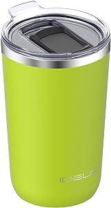 IDEUS 20oz Tumbler with Lid, Stainless Steel Vacuum Insulated Double Wall Coffee Mug, Travel Powder Coated Tumbler Mug, Apple Green