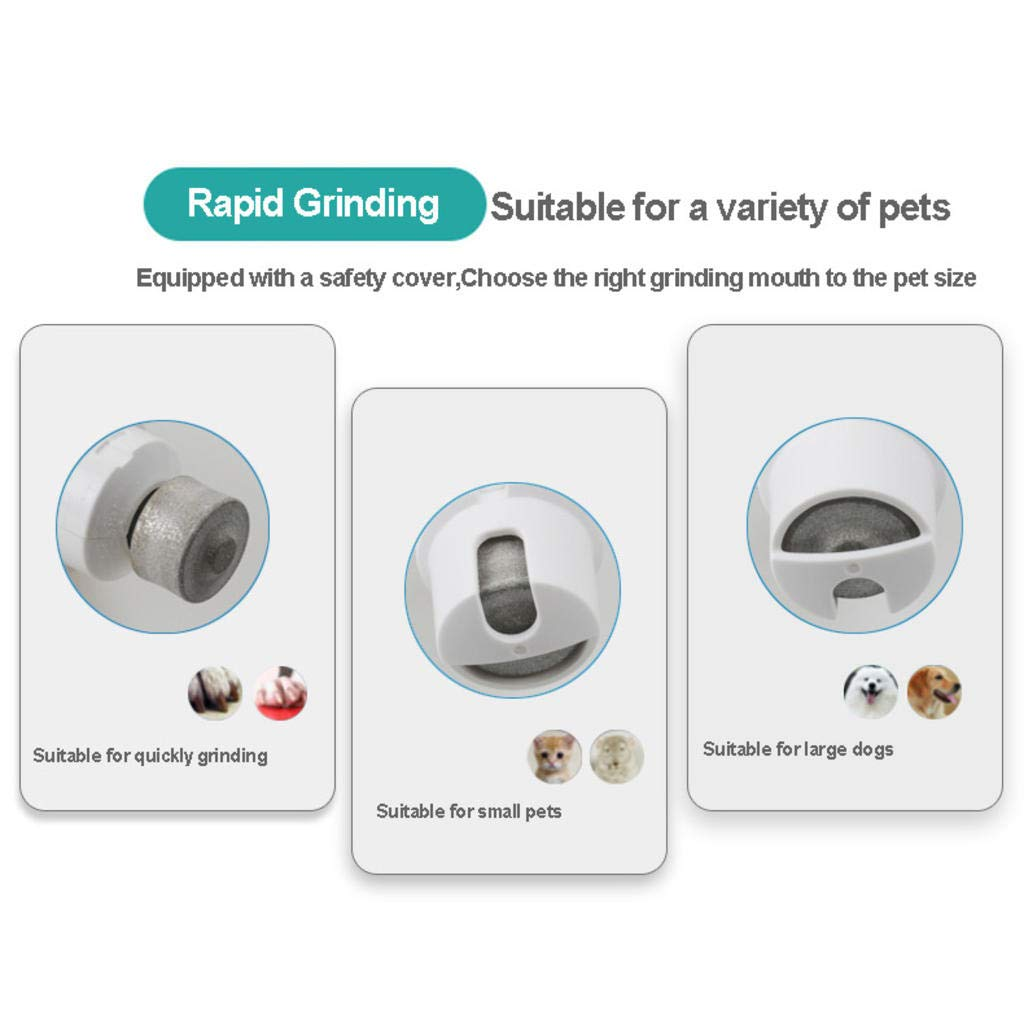 Electric Dog Nail Grinder Quick USB Charging Ultra Quiet Pet Nail Trimmer With Protection Cap for Large and Small Animal A by S&K (Image #6)