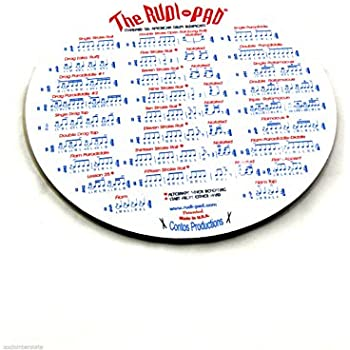 Rudi-Pad Drum Practice Pad with Standard 26 American Drum Rudiments, 9 inch