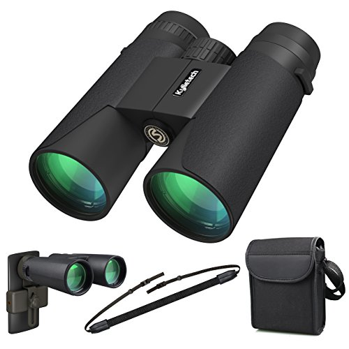 Kylietech 12x42 Binoculars for Adults, Compact HD Professional Binoculars for Bird Watching Travel Stargazing Hunting Concerts Sports-BAK4 Prism FMC Lens With Phone Mount Strap Carrying Bag by Kylietech