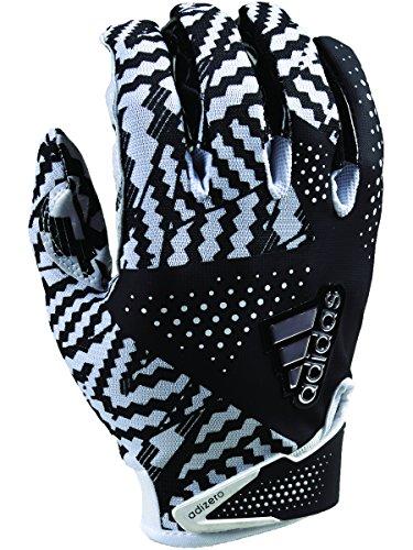 adidas Adizero 5.0 Football Gloves Medium White/black (Adizero Football Gloves compare prices)