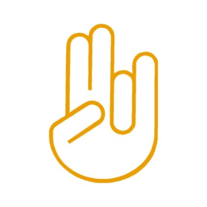 Amazon com: Shocker Hand Outline V1 Vinyl Decal by StickerDad - size