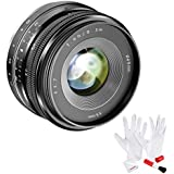 Neewer APS-C 35mm F/1.7 Manual Fixed Lens with Cleaning Kit for Sony NEX E-Mount Cameras NEX 3, NEX 3N, NEX 5, NEX 5T, NEX 5R, NEX 6, 7 A5000, A5100, A6000, A6100, A6300, A6500, A9