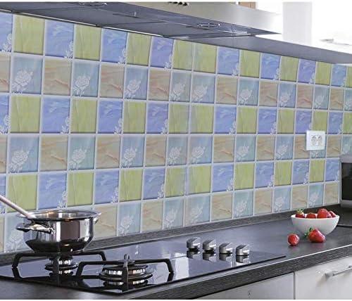 Azulejos Adhesivos Cocina 60X300Cm Cocina Autoadhesiva A Prueba Agua Y A Prueba Aceite Estufa Campana Extractora Con Adhesivos Pared Papel Aluminio Aluminio Azulejo Gabinete Papel Aluminio Estaño: Amazon.es: Hogar
