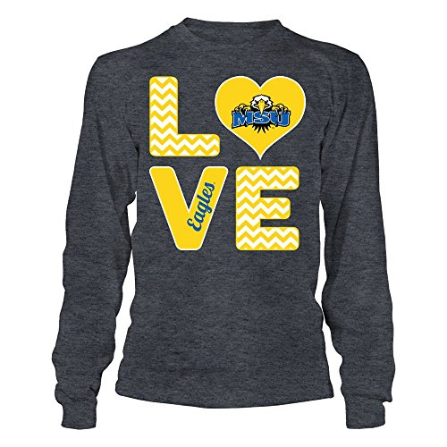 s Stacked Love Grey Longsleeve Tee - Official Sports Apparel ()