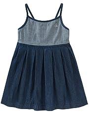 فستان من قماش الدنيم للبنات من كالفين كلاين