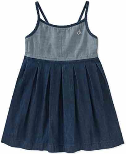Calvin Klein Girls' Denim Dress