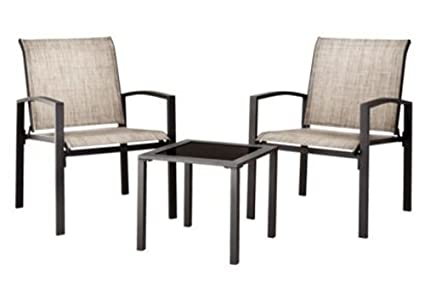 Threshold Gilmore 3 Piece Sling Patio Chat Furniture Set