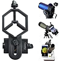 Gosky Universal Smartphone Adapter Mount for for Spotting Scope Telescope Microscope Binocular Monocular - for Eyepiece Diameter 32mm to 62mm - For Iphone Sony Samsung Moto Etc(Big Type)