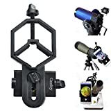 Photo : Gosky Universal Smartphone Adapter Mount for for Spotting Scope Telescope Microscope Binocular Monocular - for Eyepiece Diameter 32mm to 62mm - For Iphone Sony Samsung Moto Etc(Big Type)