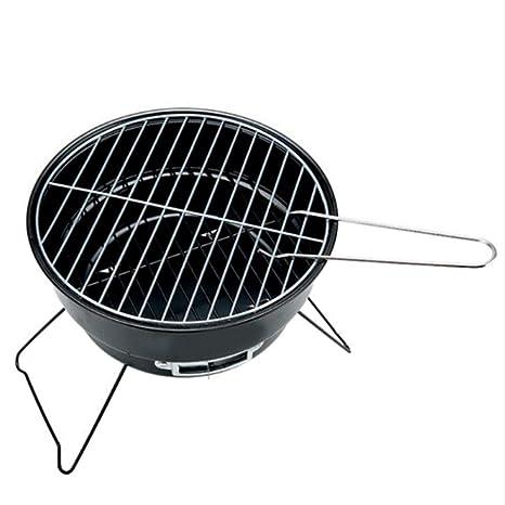 Yu&cw Barbacoa de carbón de leña portátil Barbacoa de Acero ...