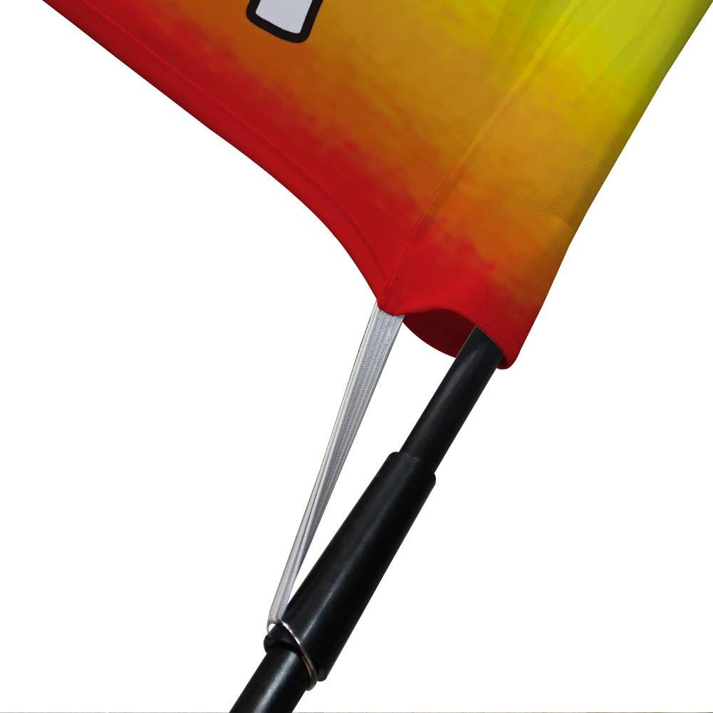 Festival Flags Playa Bandera Forecourt Signs Decoraciones de Jard/ín QSUM Bandera del Arcoiris Incluido M/ástil para Bandera Banderas Decoraciones Interior y Exterior