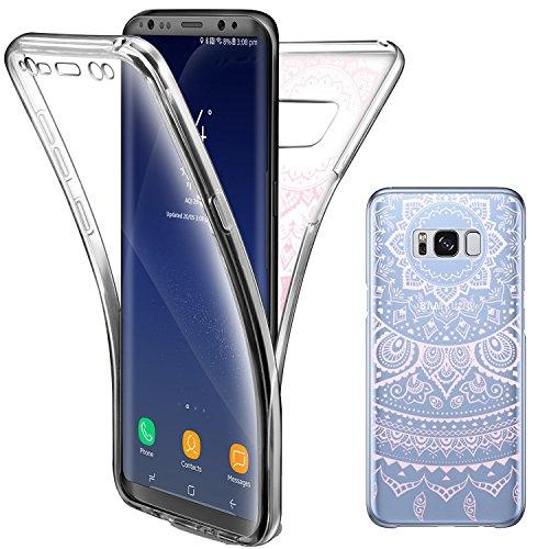 Funda Galaxy S8, Leathlux Carcasa Ultra Delgado de TPU Silicona Transparente Skin Cover Resistente Anti-Arañazos Protectora Bumper Parachoques Case para Samsung Galaxy S8 Cover