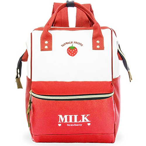 ZOMAKE Casual School Backpack, Cute Travel Backpack for Women Girls, with Wide Top Opening