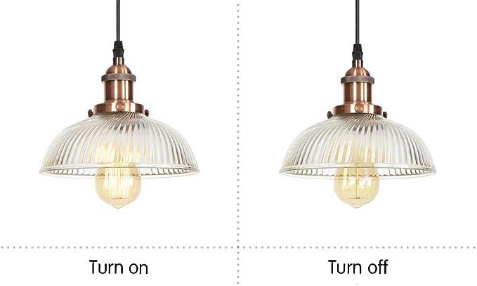 Amazon.com: Lámpara colgante de cristal transparente ...