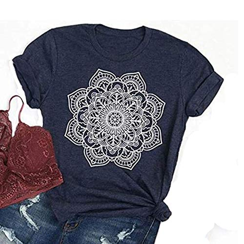 DORFALNE Wild and Free Graphic Tees Womens Short Sleeve Round Neck Alphabet Interesting Print Shirt top Dark Gray