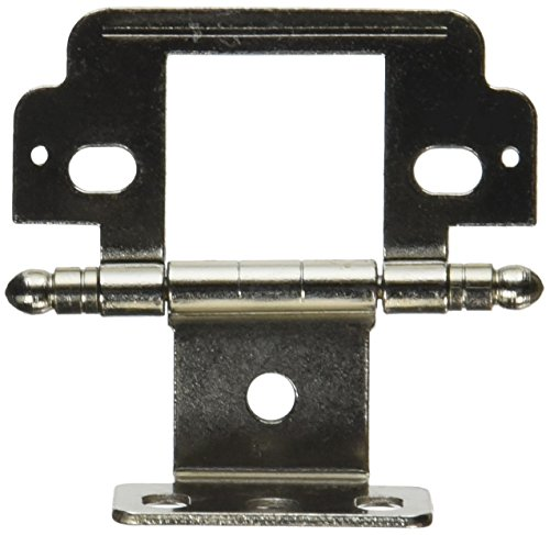 Amerock Cabinet Hinge, Full Inset, Partial Wrap, Ball Tip, Nickel (Full Hinge Wrap)