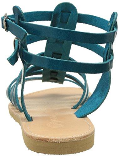 Theluto Coralie petrol Bleu Spartiates Femme rrqwfdCxR