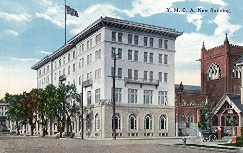 New Ymca Building (San Diego, California - Exterior View of the New YMCA Building (12x18 SIGNED Print Master Art Print w/ Certificate of Authenticity - Wall Decor Travel Poster))