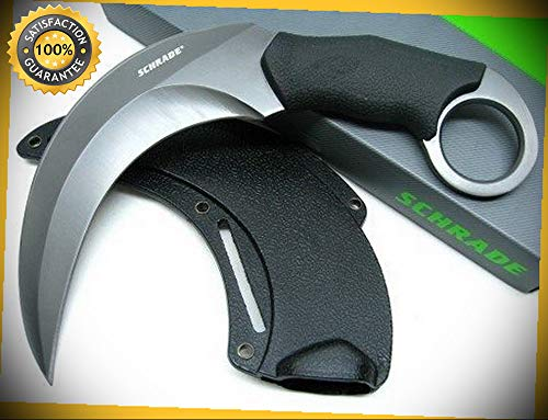 Tactical Black Full Tang Shasta Mc'Nasty Karambit Sharp Knife with Sheath SCH112 perfect for outdoor camping hunting
