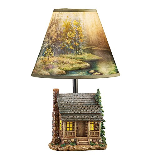 Collections Etc Woodland Log Cabin Lamp - Woodland Shade Bulb