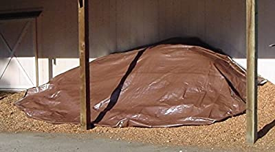8' x 10' Dry Top Heavy Duty Silver/Brown Reversible Full Size 10-mil Poly Tarp item #