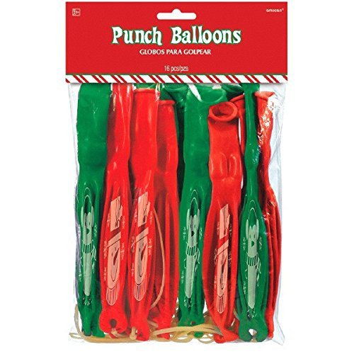 amscan Christmas Punch Balloons, 16 Ct. | Party Supply
