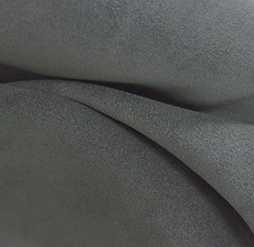 Leather Cow Upholstery Project Piece 2.1 sf Grey Skies 3-4 oz suede -28 (Suede Cow Leather)