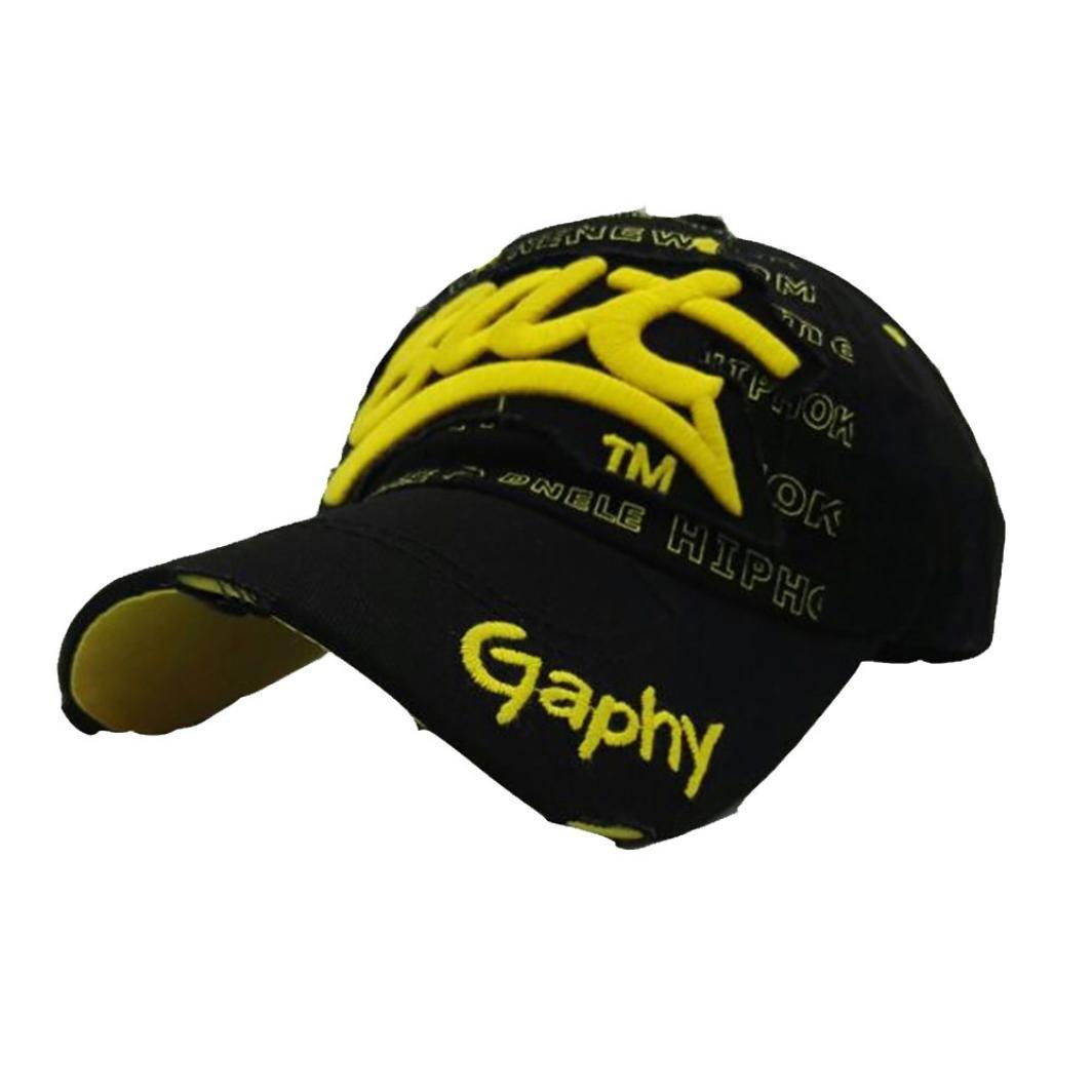 Baseball Caps, Fashion Bat Embroidered Sun Cap Dad Hats for Men Women Summer Casual Hats Hip Hop Cap (Black)