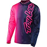 Troy Lee Designs GP Air 50/50 Boy's Off-Road Motorcycle Jerseys - Flo Pink/Navy / X-Large