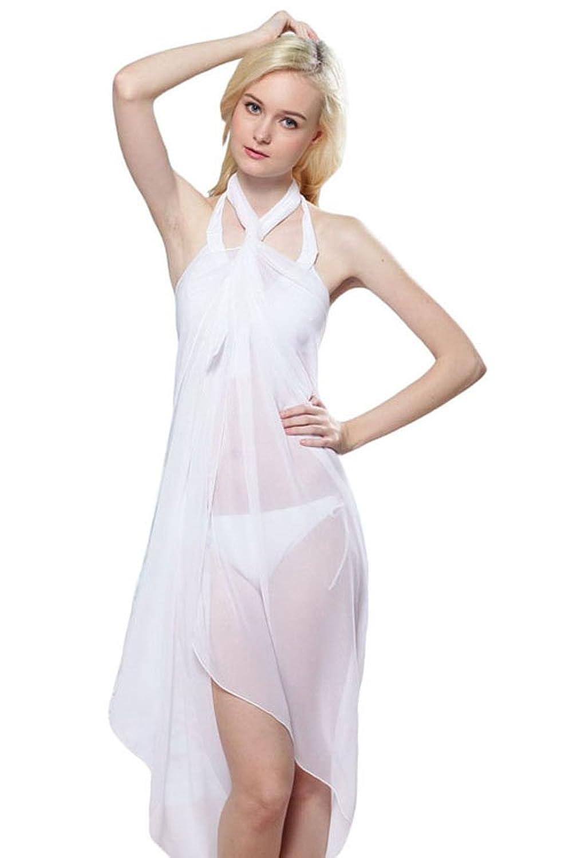 NICE BUY Damen Sheer Chiffon Sarong Strand Cover Up Beachwear