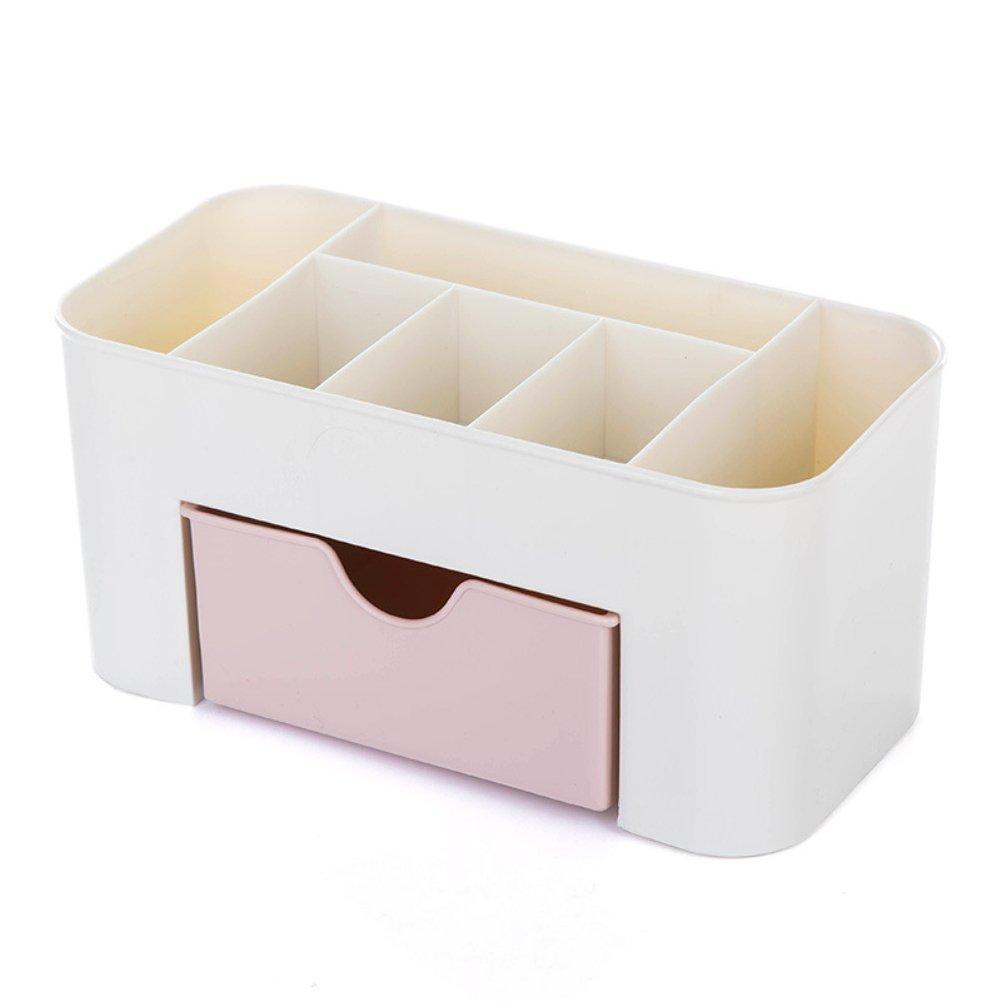 swiduuk escritorio comestics de maquillaje joyas cajó n tipo de almacenamiento de papelerí a duradero caja de ahorro de espacio talla ú nica azul