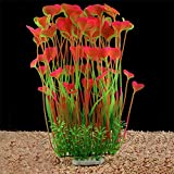 buy QUMY Aquarium Decor Fish Tank Decoration Ornament Artificial Plastic Plant Non-Toxic, Safe for All Fish 15.7 inch Tall 7.09 inch Wide (Pink) now, new 2020-2019 bestseller, review and Photo, best price $16.99