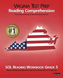 Amazon virginia test prep practice test book sol reading grade virginia test prep reading comprehension sol reading workbook grade 5 fandeluxe Image collections