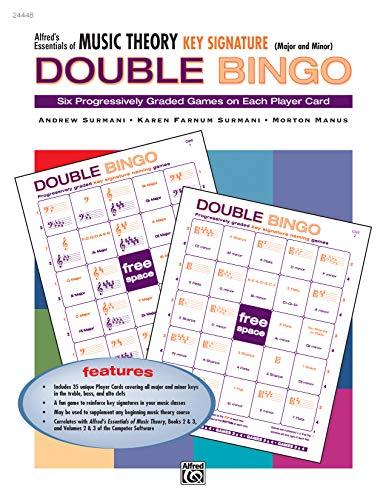 Music Listening Bingo - Alfred's Essentials of Music Theory: Key Signature Double Bingo (Major and Minor)