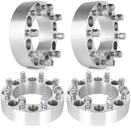 """ECCPP 8x6.5 Wheel Spacers 2"""" 4X 8x6.5 / 8x165.1 Wheel Spacers 8 Lug Adapters Compatible with Ram 2500 Ram 3500 W250 W300 9/16"""" Studs"""