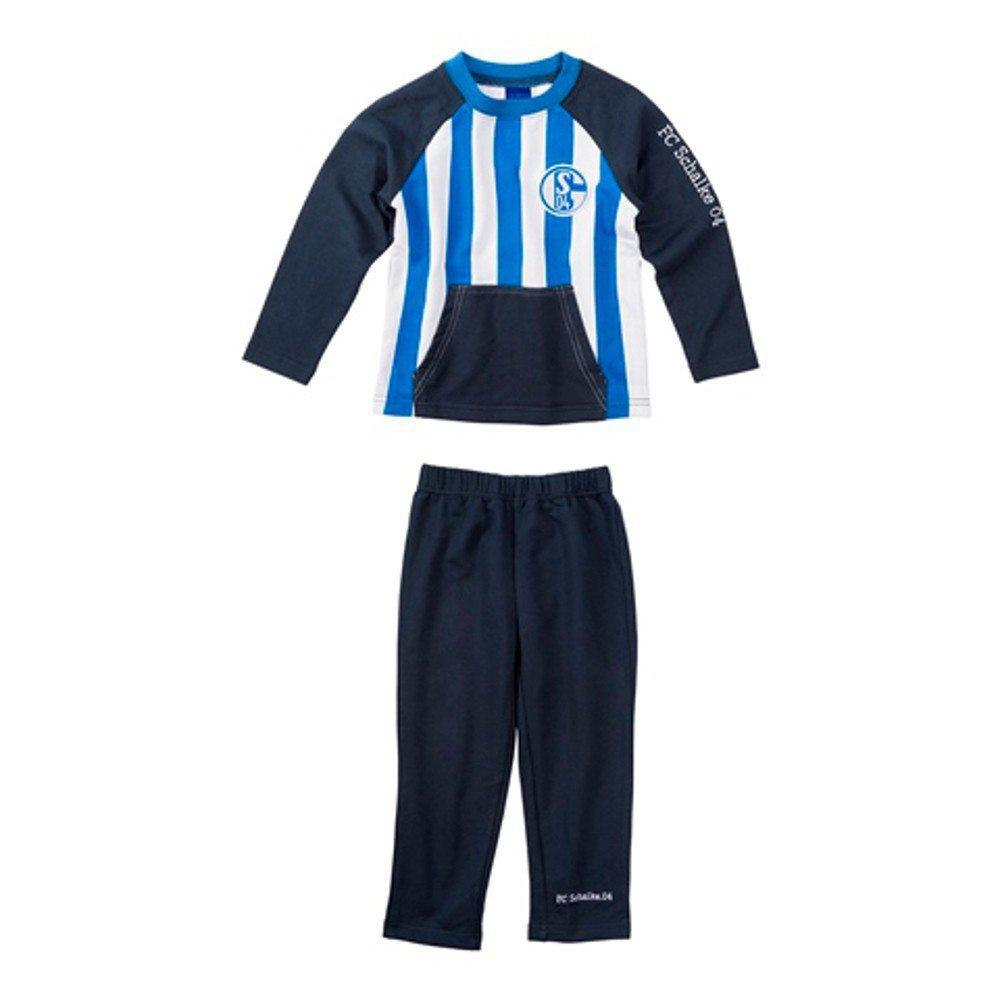 FC Schalke 04 Fußball S04 Baby Jogger Kleinkinder Jogginganzug Marine blau weiß