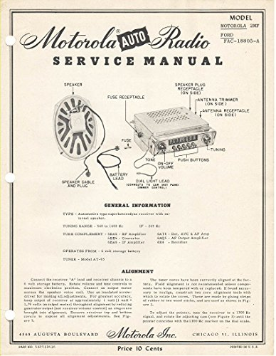 motorola-auto-radio-service-manual-model-motorol-2mf-and-ford-fac-18805-a