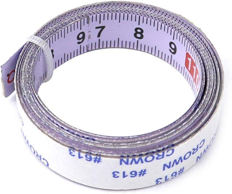 Xueliee per attrezzi per la lavorazione del legno scala metrica in acciaio Metro a nastro autoadesivo
