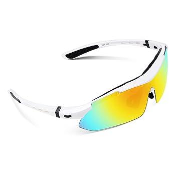 Lunettes de soleil vélo UV protection Lumière polarisée homme incassable sports cyclisme durable confort Ski, Crk41aYEZ5, Cyclisme, Moto, Conduite,Course et Autres Activités Extérieur (Monture jaune,verres