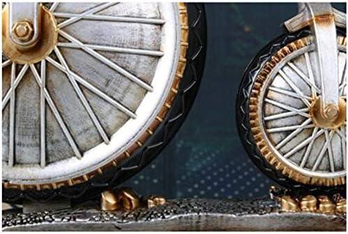 MUZIWENZI Europeo Creativo Reloj Retro Bicicleta Arte Reloj Barrido Silencio Mudo Reloj Moda Péndulo Reloj Sentado Blanco, Bronce Segunda Mano silenciosa (Color : Negro): Amazon.es: Hogar