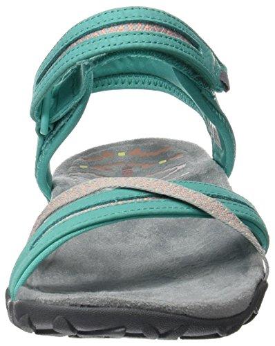 Merrell Terran Cross II, Women's Hook and Loop Sandals Green (Atlantis)