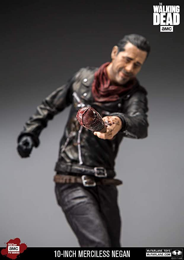 "McFarlane Negan 10/"" Deluxe Figure Merciless Edition The Walking Dead Model"