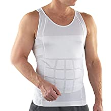 TopTie Men Slimming Body Shaper Tummy Waist Vest Shirt Abdomen Slim, Muscle Tank