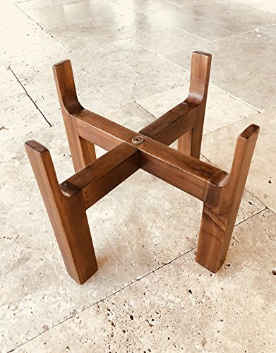 - Slopper Stopper Elevated Dog Bowl Stand - Deluxe Stand ONLY - Wooden Stand 8 Inch
