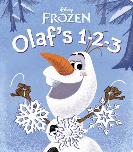 """""""Olaf's 1-2-3 (Disney Frozen) (Glitter Board Book) by RH Disney (2013) Board book"""""""
