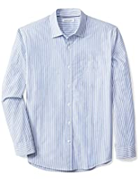 Amazon Essentials Men's Regular-Fit Long-Sleeve Stripe Shirt