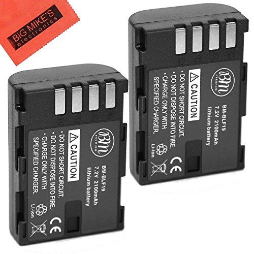 BM Premium 2-Pack of DMW-BLF19, DMW-BLF19e, DMW-BLF19PP Batteries for Panasonic Lumix DC-G9 , DC-GH5, DMC-GH3, DMC-GH3K, DMC-GH4, DMC-GH4K Digital Camera