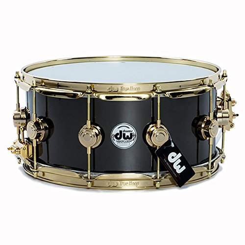 - DW Collector's Series Black Nickel Over Brass Snare Drum 6.5x14